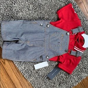2 Piece Tommy Hilfiger Toddler Overall Shorts